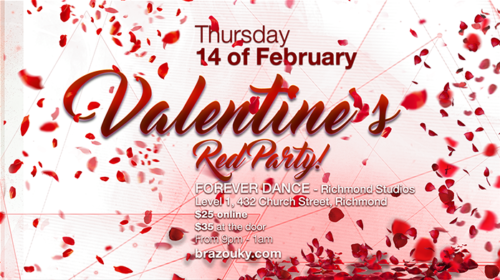 14th Feb 2019 - Valentine's Red Party!
